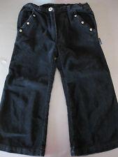 Hosen Jeans Gr. 104/4Y, KANZ, Schwarz Samt, Nieten, Taschen, top, wunderschön
