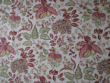 "SANDERSON CURTAIN FABRIC DESIGN  ""Madagascar"" 3.55 METRES RED/GOLD (355 CM)"