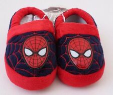 Marvel Spider-Man Fleece House Shoes Slippers Boys Kids Size 7/8 M  NWT Red