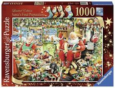 RAVENSBURGER CHRISTMAS PUZZLE*1000 T*SANTA'S FINAL PREPARATIONS*WEIHNACHTEN
