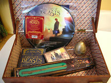 FANTASTIC BEASTS AND WHERE TO FIND THEM RARE SUITCASE PROMO LP CD EGG WAND BOOK