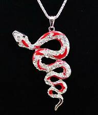 New Fashion Plating 14 k the snake shape  necklace Halloween gifts k174