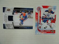 Taylor Hall 2013/14 UD Game Jersey & 2015/16 UD Pride Of Canada Edmonton Oilers