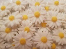 Comestible sucre marguerites fleurs blanches anniversaire mariage gâteau cupcake toppers