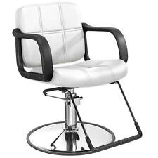 White Hydraulic Barber Chair Styling Salon Beauty Equipment