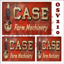 WEATHERED PEEL & STICK BUILDING SIGN DECALS CASE FARM MACHINERY O SCALE OSV210