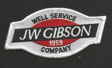 "JW GIBSON WELL SERVICE COMPANY 1959 2 X 4""  ADVERTISING  PATCH"