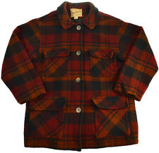 Vtg Woolrich Hunting Jacket S M Wool Plaid Flannel 90s USA Mens Shirt Buttons