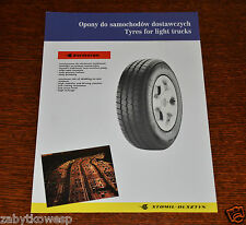 PROSPEKT BROCHURE  STOMIL-OLSZTYN TYRES FOR LIGHT TRUCKS