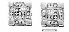 diamond .29 carats ice out 10k gold cube screwback stud earrings men ladies hip