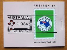 1984 AUSIPEX AUSTRALIA NATIONAL STAMP WEEK SOUVENIR BOOKLET-1981 STAMPS