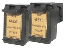 2x Remanufactured Ink Cartridges for HP 61XL CH563WN Black for Deskjet 1000 1050