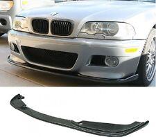 01-06 BMW E46 H TYPE CARBON FIBER FRONT LIP FOR E46 M3 FRONT BUMPER BLACK CARBON