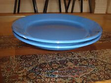 Two Ikea Indigo Blue Luncheon Salad Dinner Plates Simple Classic Design
