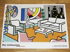 "ROY LICHTENSTEIN POSTER "" INTERIOR WITH SKYLINE "" REFLECTIONS POP ART in MINT"