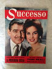 RIVISTA SUCCESSO N.6 1959 LUALDI CLARK GABLE MARIA CALLAS GRACE KELLY