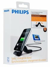 NEW Philips Sync, Charge & Stand FlexAdapt for iPad/ iPhone- DLC2407BLK/10