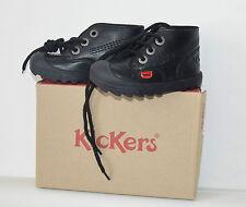 Kickers Niños Chicos Escuela Negro De Arranque Plunk Size UK C6 UE 23 Totalmente Nuevo En Caja