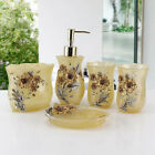 5pcs Accessory Sets Bathroom Jasmine Accessories Modern Dish Contemporary