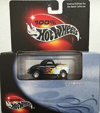 1941 WILLYS GASSER, Black w/ Flames, Hot Wheels, 1:64, SHIPS FAST, NEW in Box!