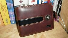 Mens Brown Leather Wallet From Pilusi With Coin Pouch New And Sealed