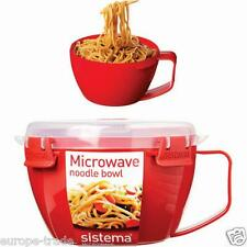 Sistema Quick Soup Noodle Bowl Microwave Work - Office - Travel - Home Red 940ml