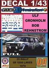 DECAL 1/43 FIAT 131 ABARTH ULF GRONHOLM 1000 LAKES 1979 (FULL) (04)