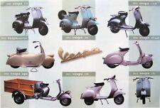 """VESPA """"8 CLASSIC MOTOR SCOOTERS"""" POSTER - Piaggio Italian Motorbikes"""