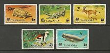 Tanzania #82-86 VF MNH - 1977 50c to 5sh WWF Endangered Species - SCV $26.65