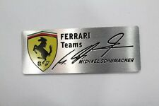 FERRARI teams,metal ferrari car badge Schumacher signature