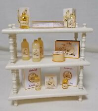 Dollhouse miniature 3 Tier Shelf Wedding shop Filled Unit