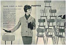 Publicité Advertising 1961 (2 pages) Meubles Mobilier les chaises Formica