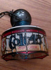 Colt 45 ceiling lamp light Faux Stained Glass vintage advertising ex work cond