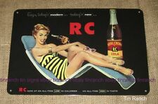 RC royal crown COLA TIN SIGN vintage 50s diner Retro soda milk bar cool drink