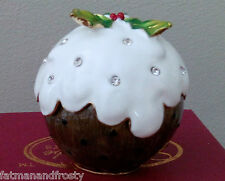 CRAYCOMBE Christmas Enamel Pewter Trinket Box PLUM PUDDING / CHRISTMAS PUDDING