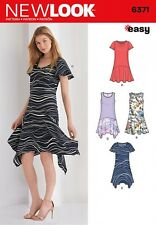 New Look Ladies Easy Sewing Pattern 6371 Asymmetric T Shirt Dresses (NewLook-...