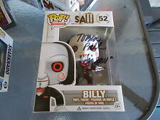 TOBIN BELL BILLY JIGSAW SAW HAND FUNKO POP DOLL + PIC SIGNING