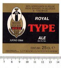 Belgian Beer Label - Van Roy Brewery - Belgium - Royal Type Ale