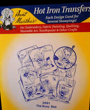 "Aunt Martha's Hot Iron On Transfer # 3681 ""The Busy Bee"""