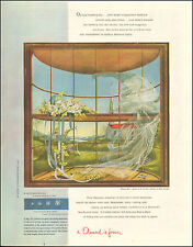 1952 Ad De Beers A Diamond is Forever ART Wedding Day Brian Connelly (073116)