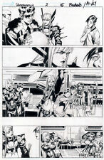 CHRIS BACHALO Uncanny X-Men #2 pg 15 Original Comic Art MAGIK Emma Frost Cyclops