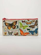 """Blue Q """"Butterfly Society"""" pencil case vintage art eco recycled by ArtBird"""