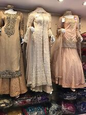 Wedding Dress With Pearls Diamantes English Traditional Vintage Indian Pakistani