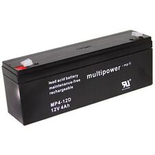 Blei-Gel Akku Multipower MP4-12D Bleiakku AGM Vlies 12V 4Ah Accu Batterie MP412D