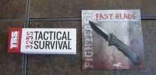 TRS 325S Tactical Survival knife,speed open + Tactical knife fighting DVD, NIB!