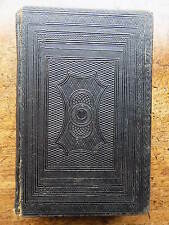 1859 Psalm Book Plate Penmanship Calligraphy Old Antique Fine Binding Leather