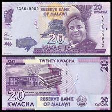 Malawi 20 Kwacha, 2015, P-New, UNC