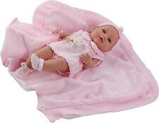 Muñeco bebe recien nacido vestido toquilla muñeca 42 cm vinilo. En bolsa.