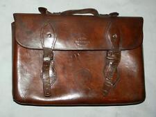 Antico Marrone Pelle Valigetta Custodia/Borsa a tracolla. (H tranter Wellington)