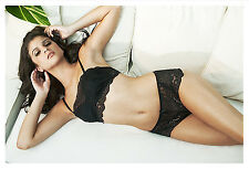 COSABELLA BLACK THEA PADDED BANDEAU BRA 32D